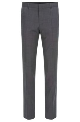 'Bevan' | Slim Fit, Italian Super 110 Virgin Wool Dress Pants, Charcoal