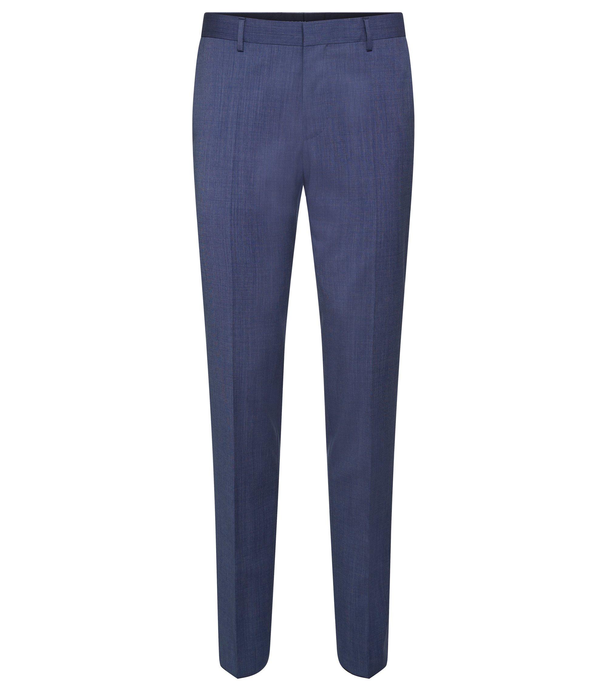 Italian Virgin Wool Dress Pant, Slim Fit | Bevan, Blue