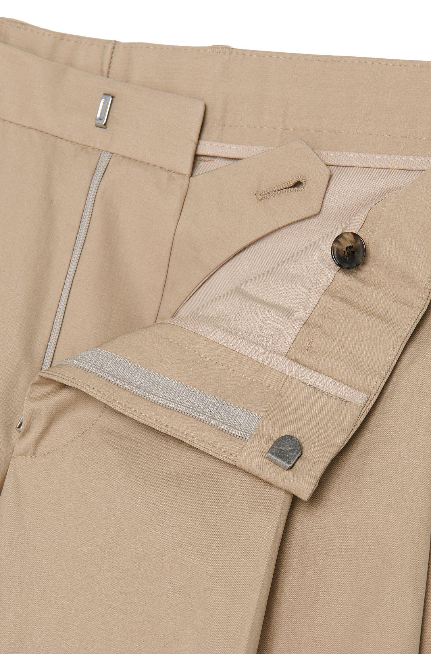 Cotton Pleated Pant, Slim Fit   Paton