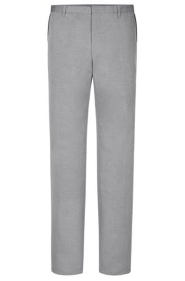 'Weldon' | Extra Slim Fit, Cotton Piped Dress Pants, Dark Grey