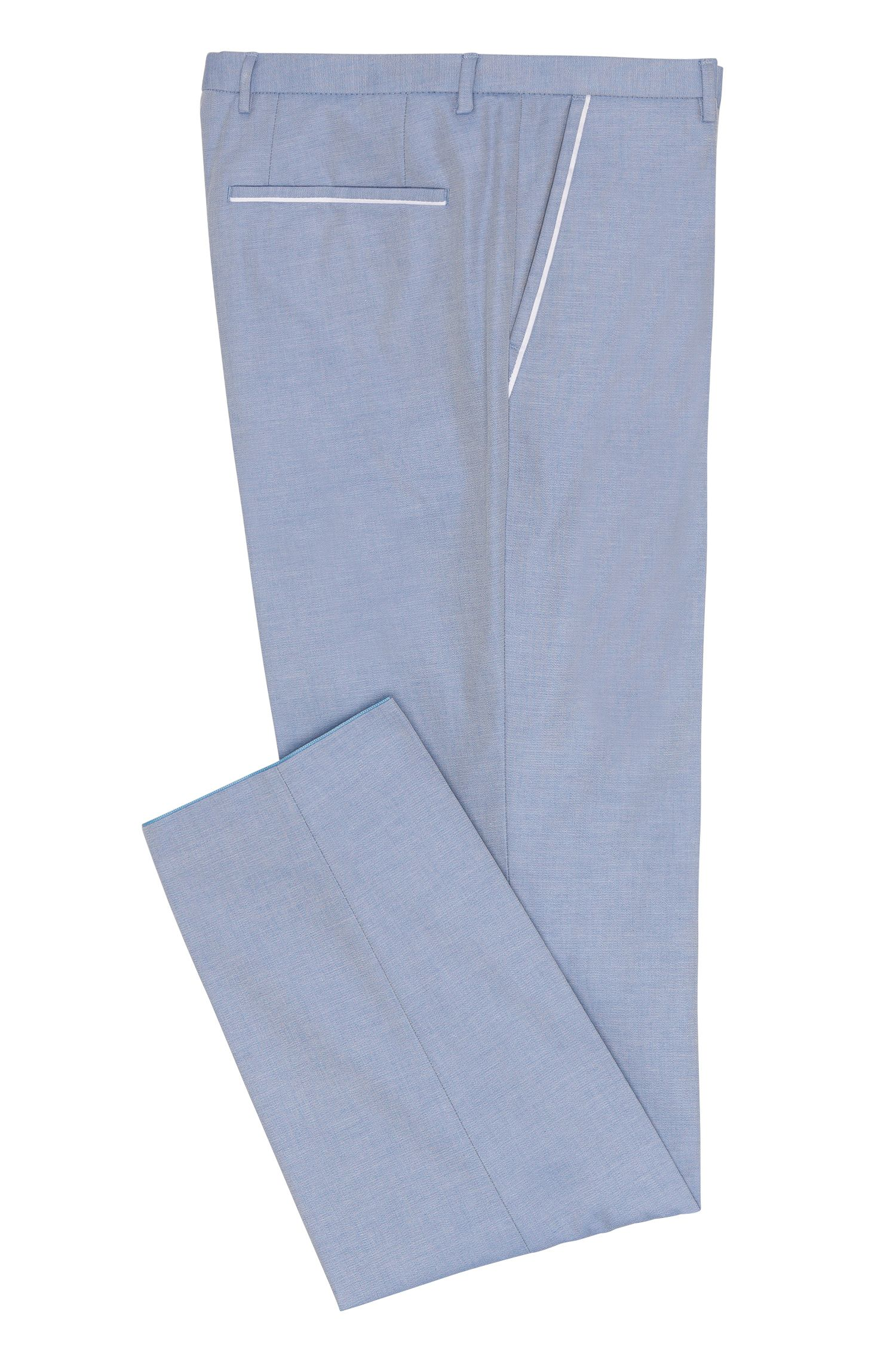 Cotton Piped Dress Pant, Extra Slim Fit | Weldon