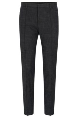 'Whitmore' | Extra Slim Fit, Cotton Blend Melange Dress Pants, Charcoal