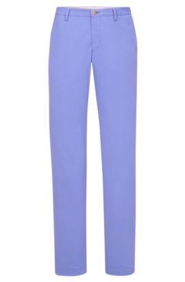 Stretch Cotton Chino Pants, Slim Fit   Stanino W, Blue