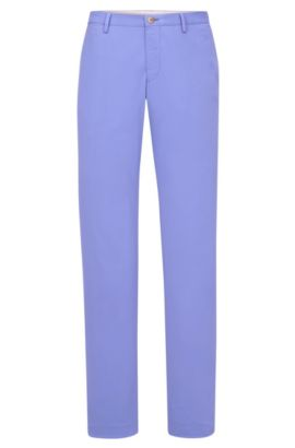Stretch Cotton Chino Pants, Slim Fit | Stanino W, Blue