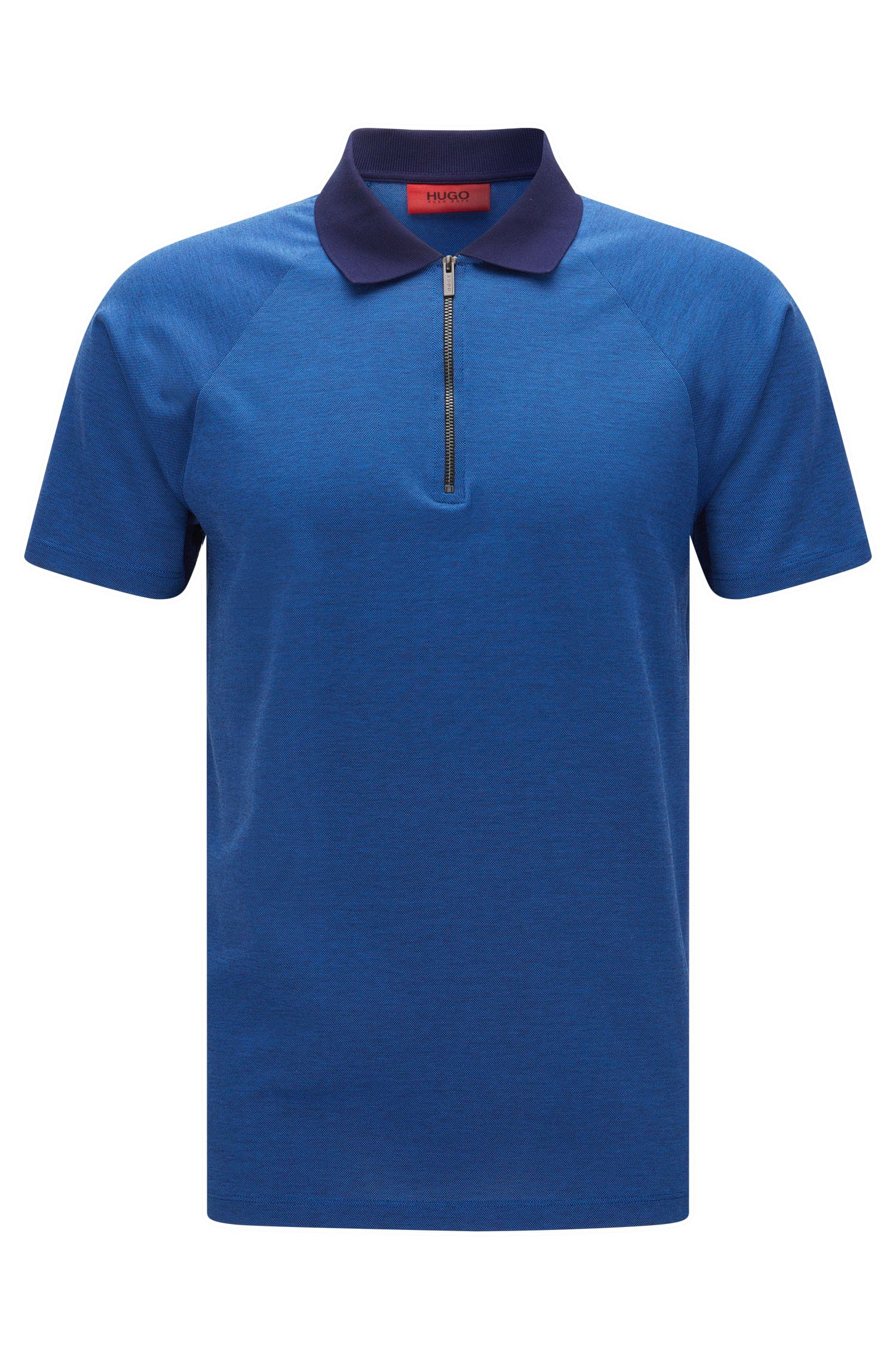 Cotton Textured Polo Shirt, Slim Fit | Dericsson