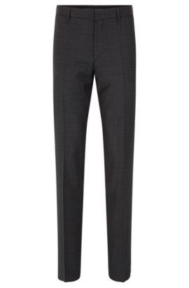 'Genesis' | Slim Fit, Virgin Wool Dress Pants, Charcoal