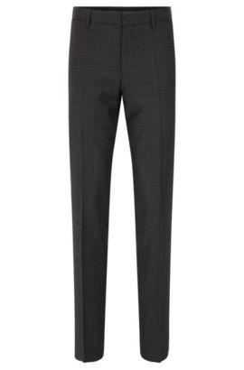 'Genesis' | Slim Fit, Virgin Wool Dress Pants, Charcoal