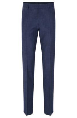 'Genesis' | Slim Fit, Virgin Wool Dress Pants, Blue