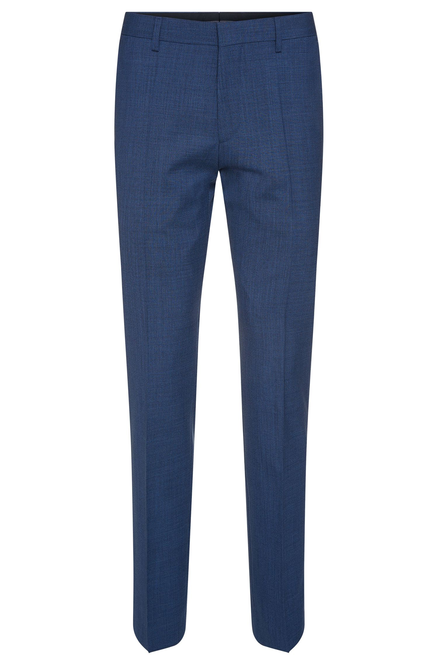 'Genesis' | Slim Fit, Virgin Wool Patterned Dress Pants