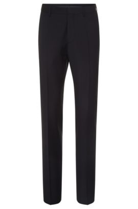 'Genesis' | Slim Fit, Virgin Wool Cashmere Dress Pants, Dark Blue