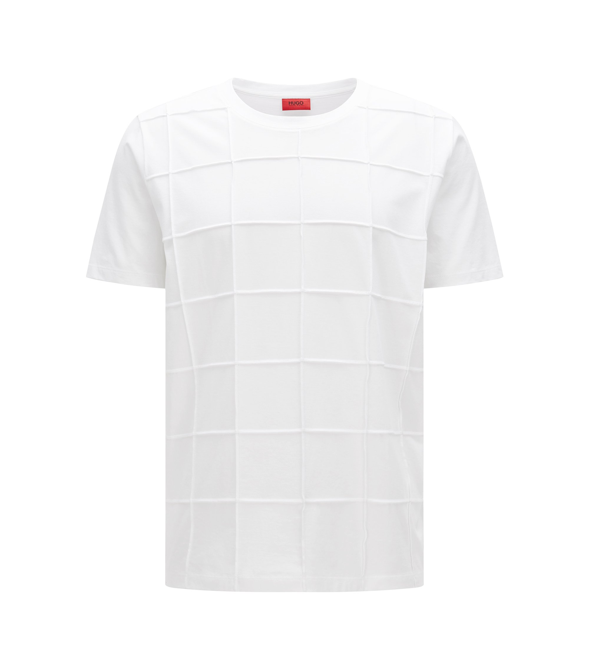 Cotton Pintucked T-Shirt | Devy, White