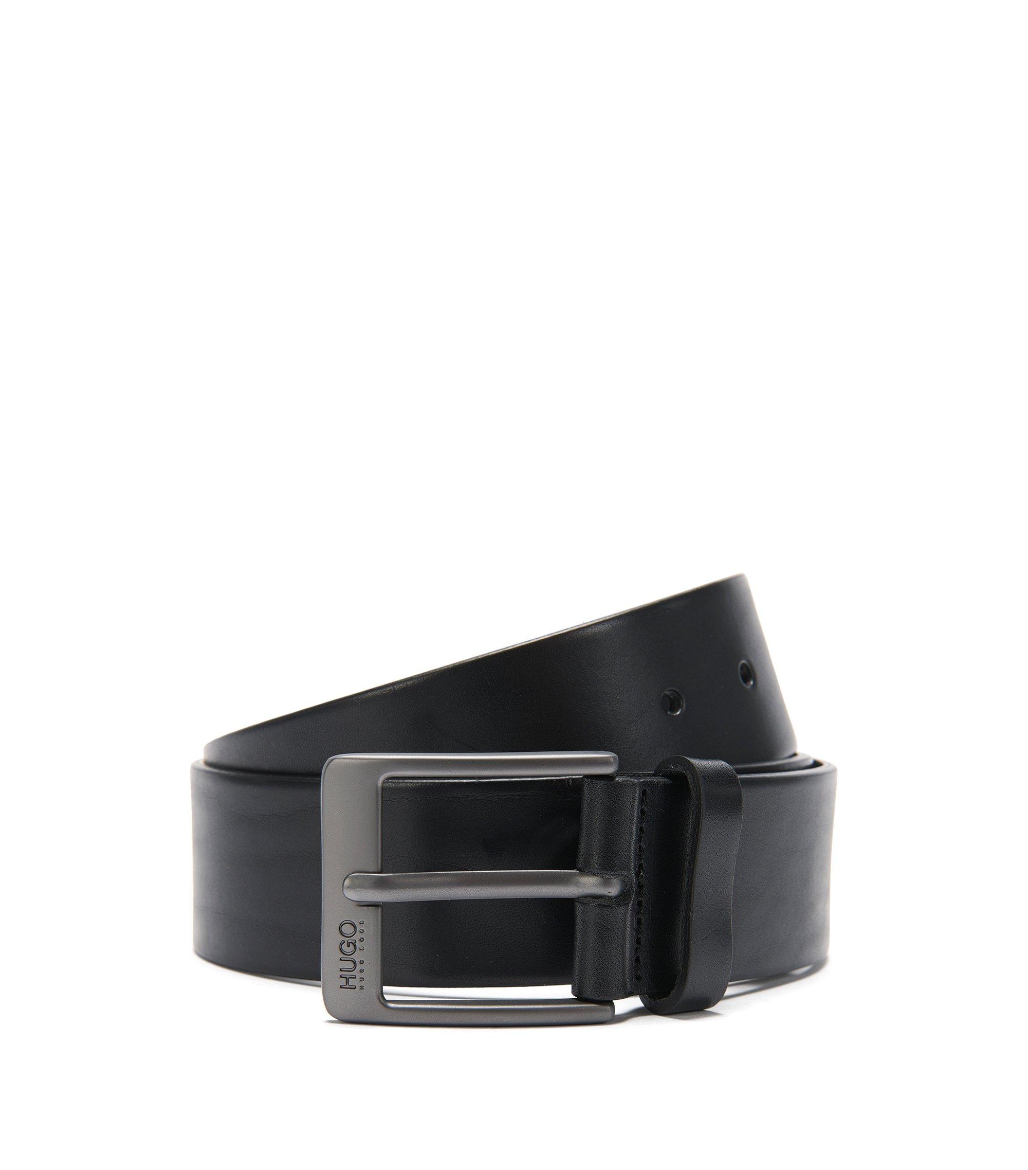 'Giole'   Leather Belt, Black