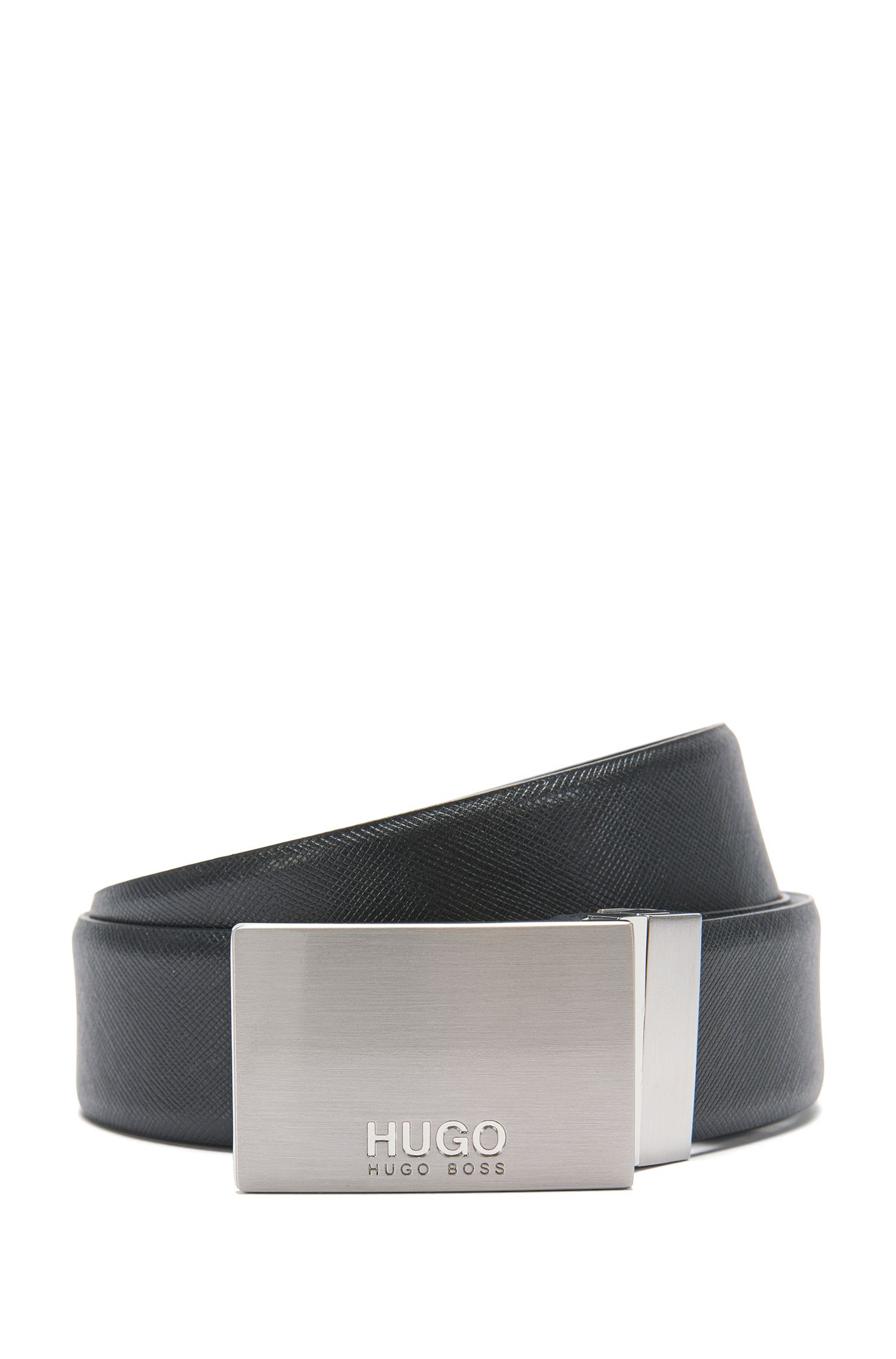 'Guido Or35 Ps' | Leather Textured Belt