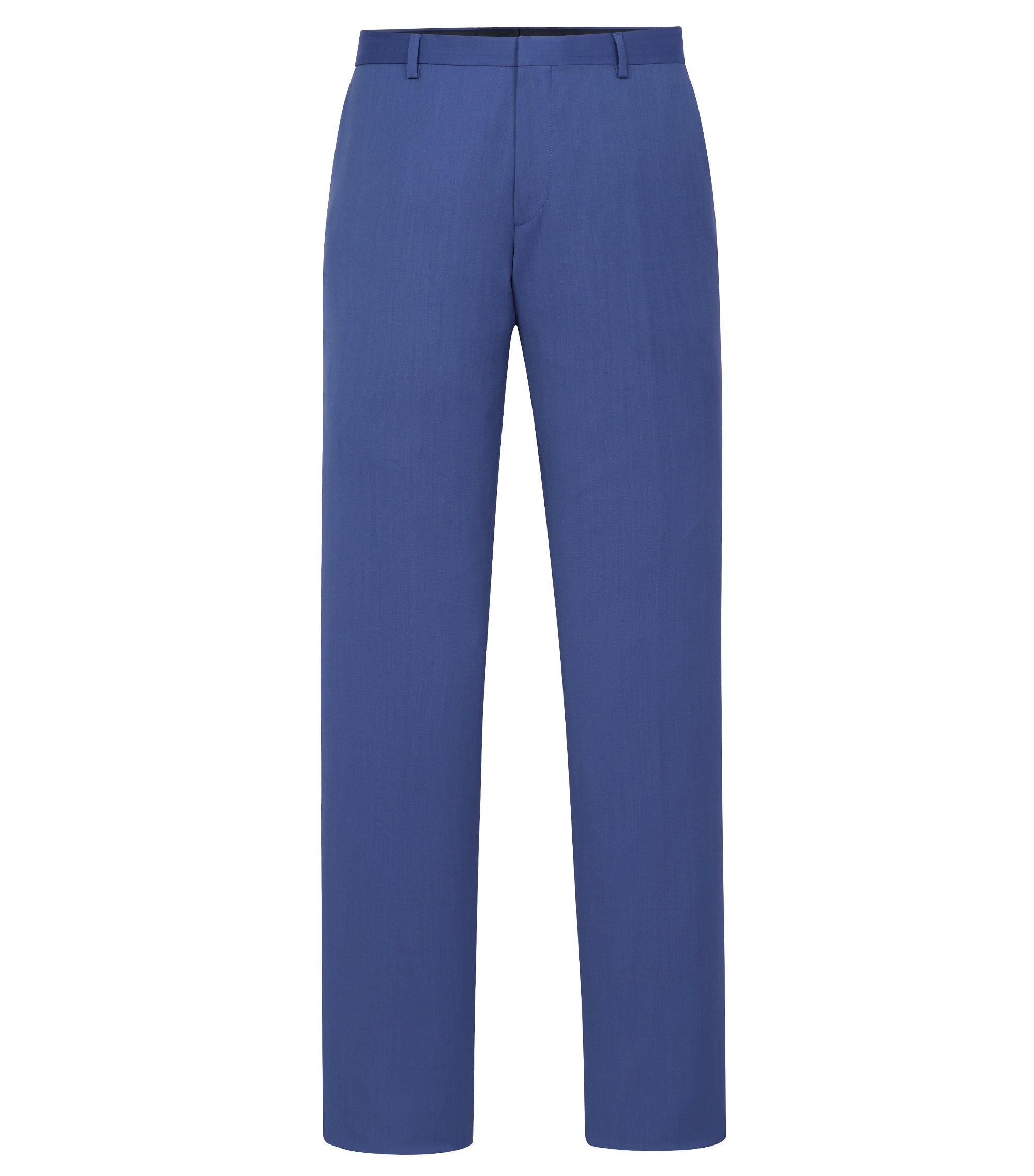 Italian Virgin Wool Dress Pant, Slim Fit | Genesis, Blue