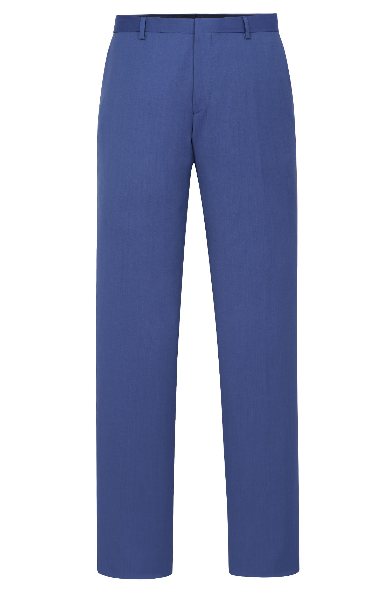 Italian Virgin Wool Dress Pant, Slim Fit | Genesis, Blue