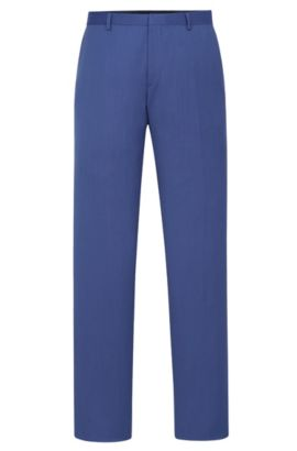 'Genesis' | Slim Fit, Italian Super 110 Virgin Wool Dress Pants, Blue