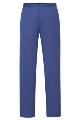 'Genesis' | Slim Fit, Italian Super 110 Virgin Wool Dress Pants, Blue