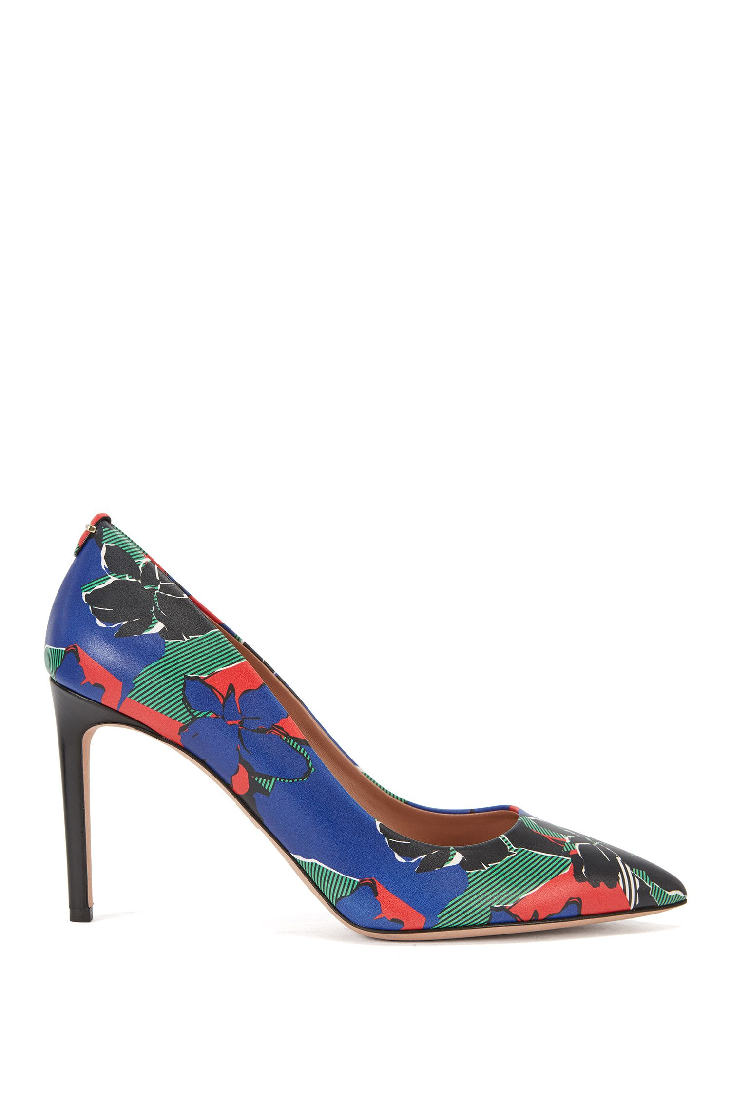 'Staple P' | Italian Calfskin Printed Pump
