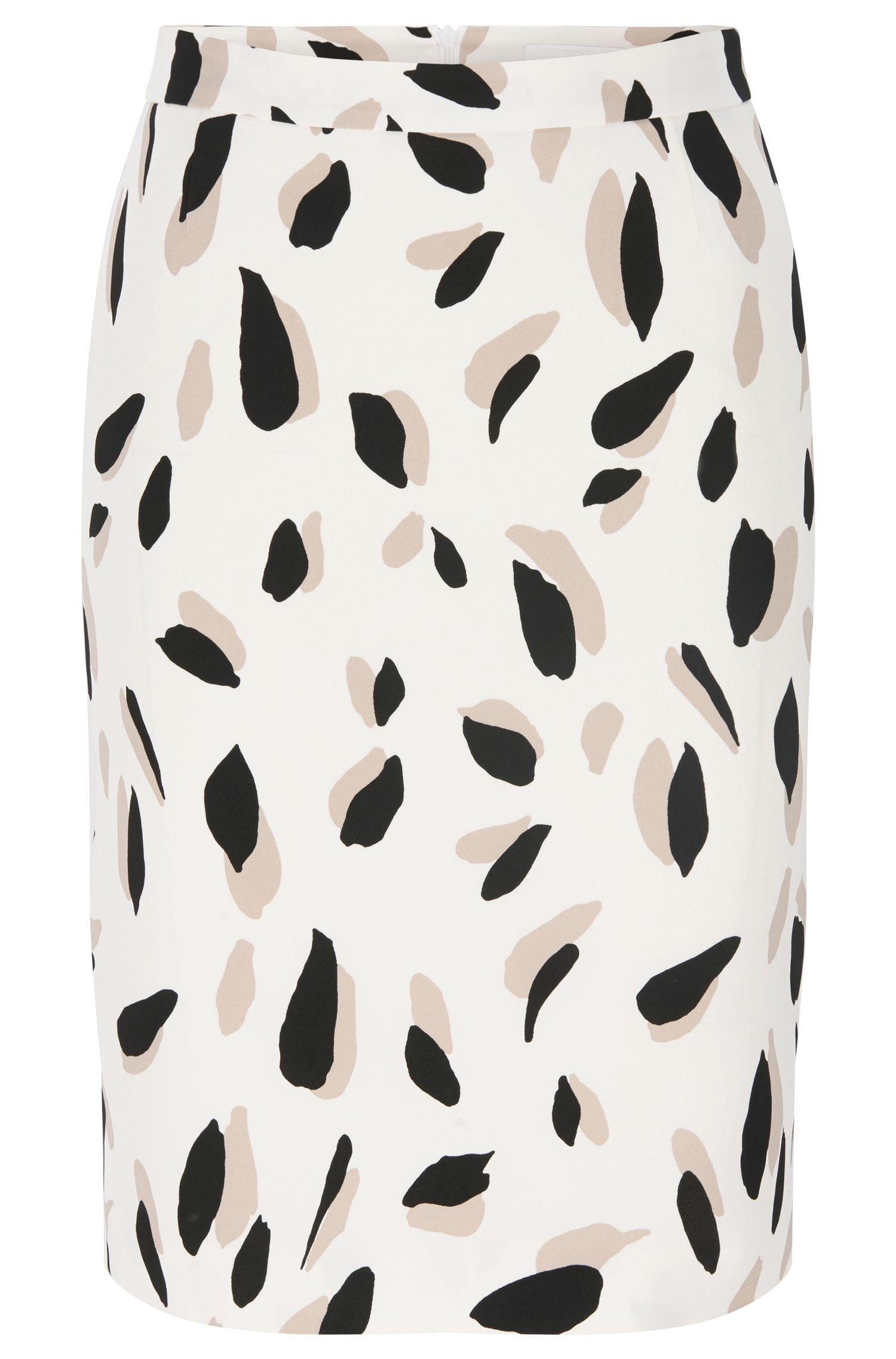 'Vimena' | Stretch Viscose Printed Pencil Skirt