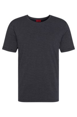 'Drid' | Cotton Printed T-Shirt, Dark Blue