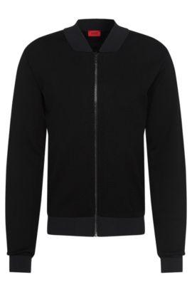 'Slop' | Cotton Blend Mesh Jacket, Black