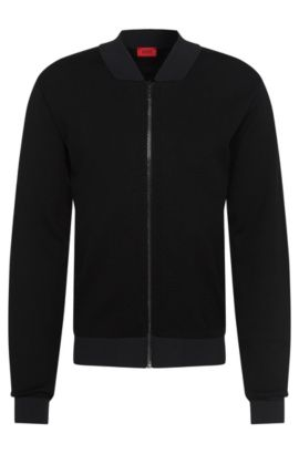'Slop' | Cotton Blend Mesh Jacket, Black