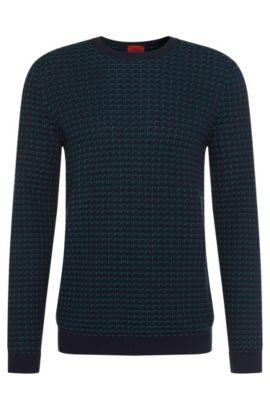 'Srid' | Cotton Patterned Sweater, Green