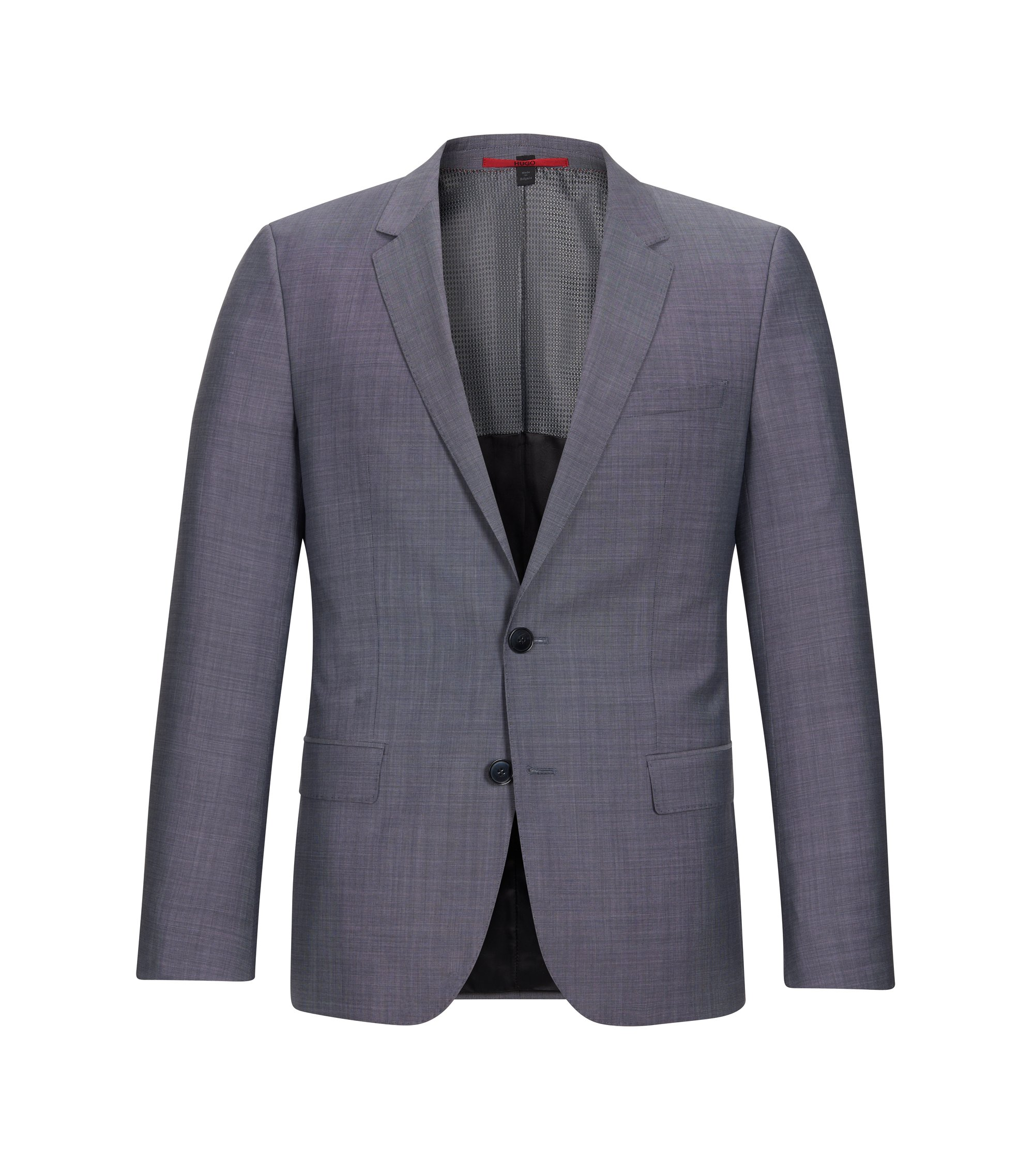 Italian Virgin Wool Sport Coat, Slim Fit   C-Huge, Open Grey