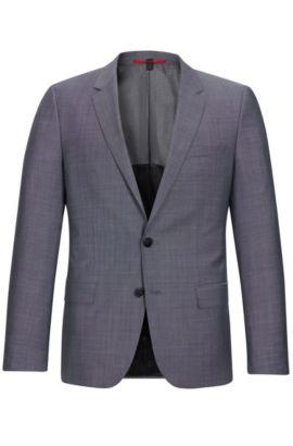 Italian Super 100 Virgin Wool Sport Coat, Slim Fit | C-Huge, Open Grey