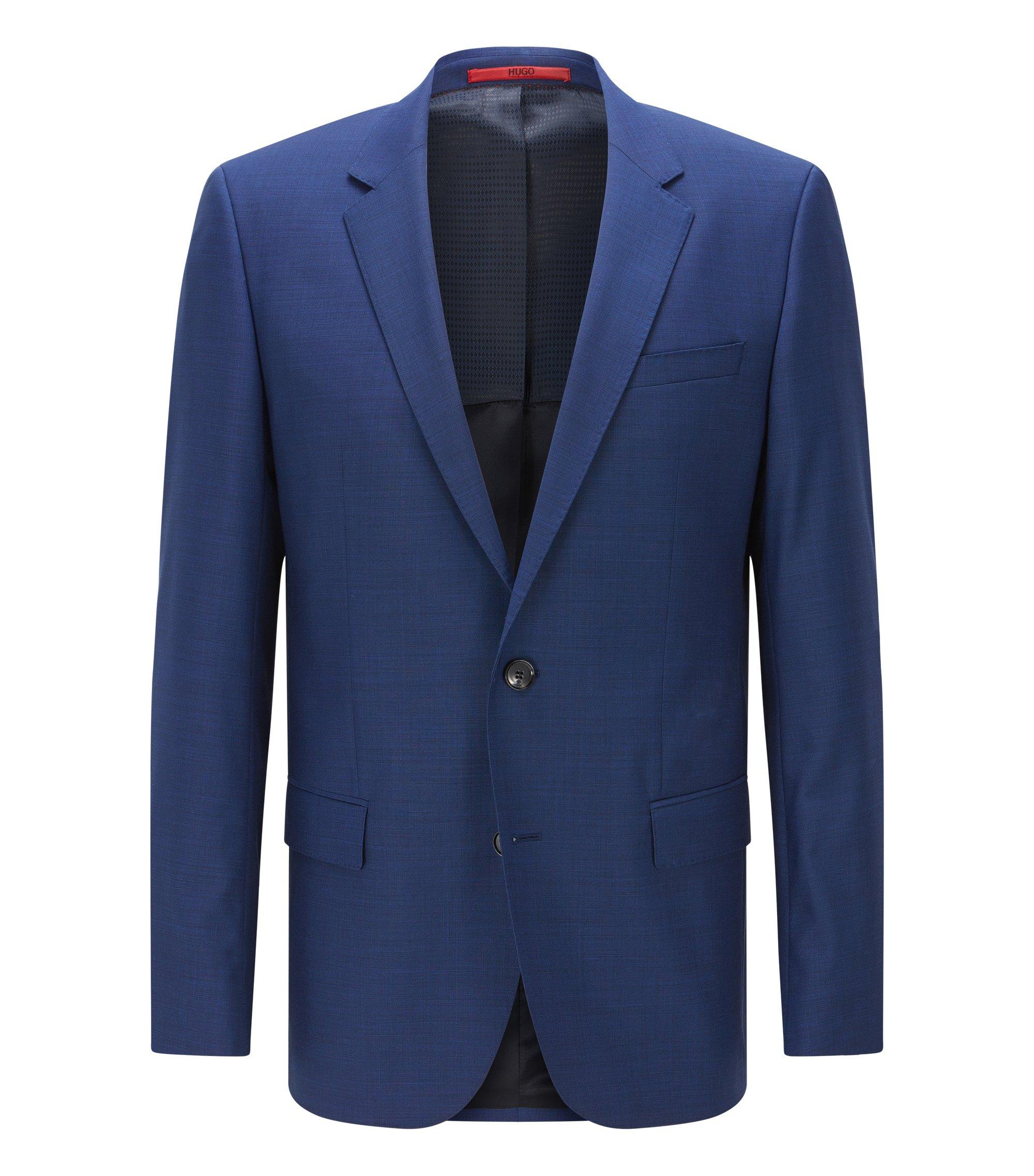Italian Virgin Wool Sport Coat, Slim Fit   C-Huge, Blue