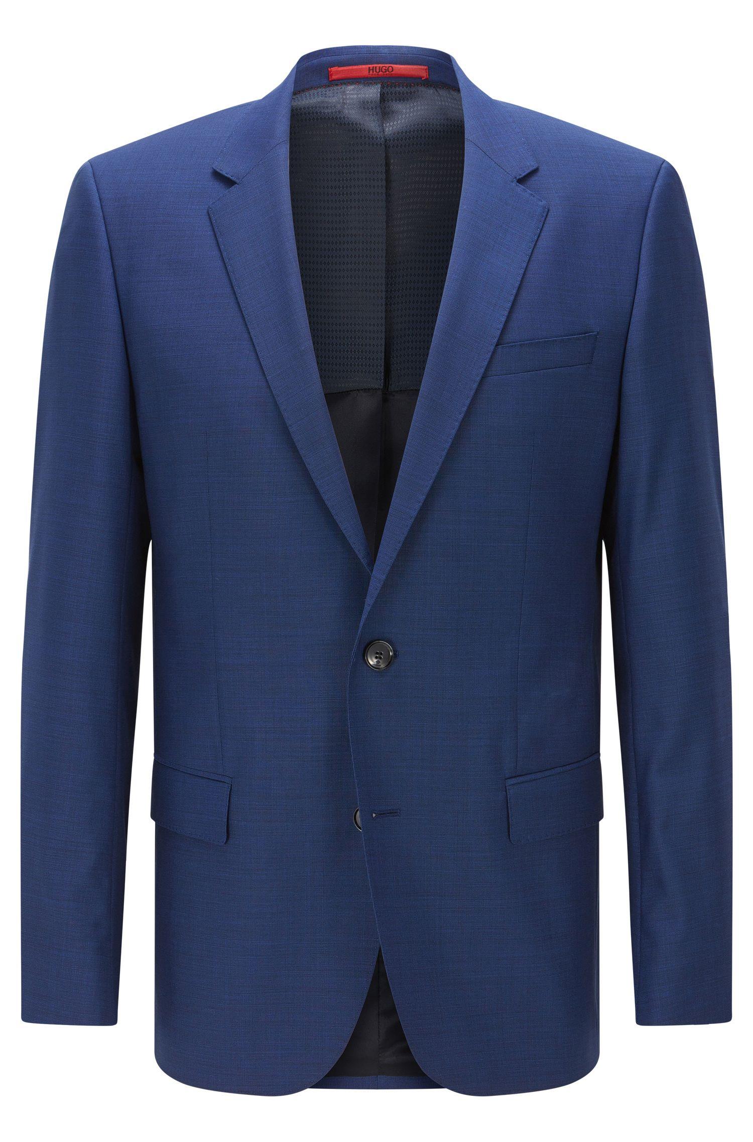 'C-Huge' | Slim Fit, Super 100 Italian Virgin Wool Suit Jacket