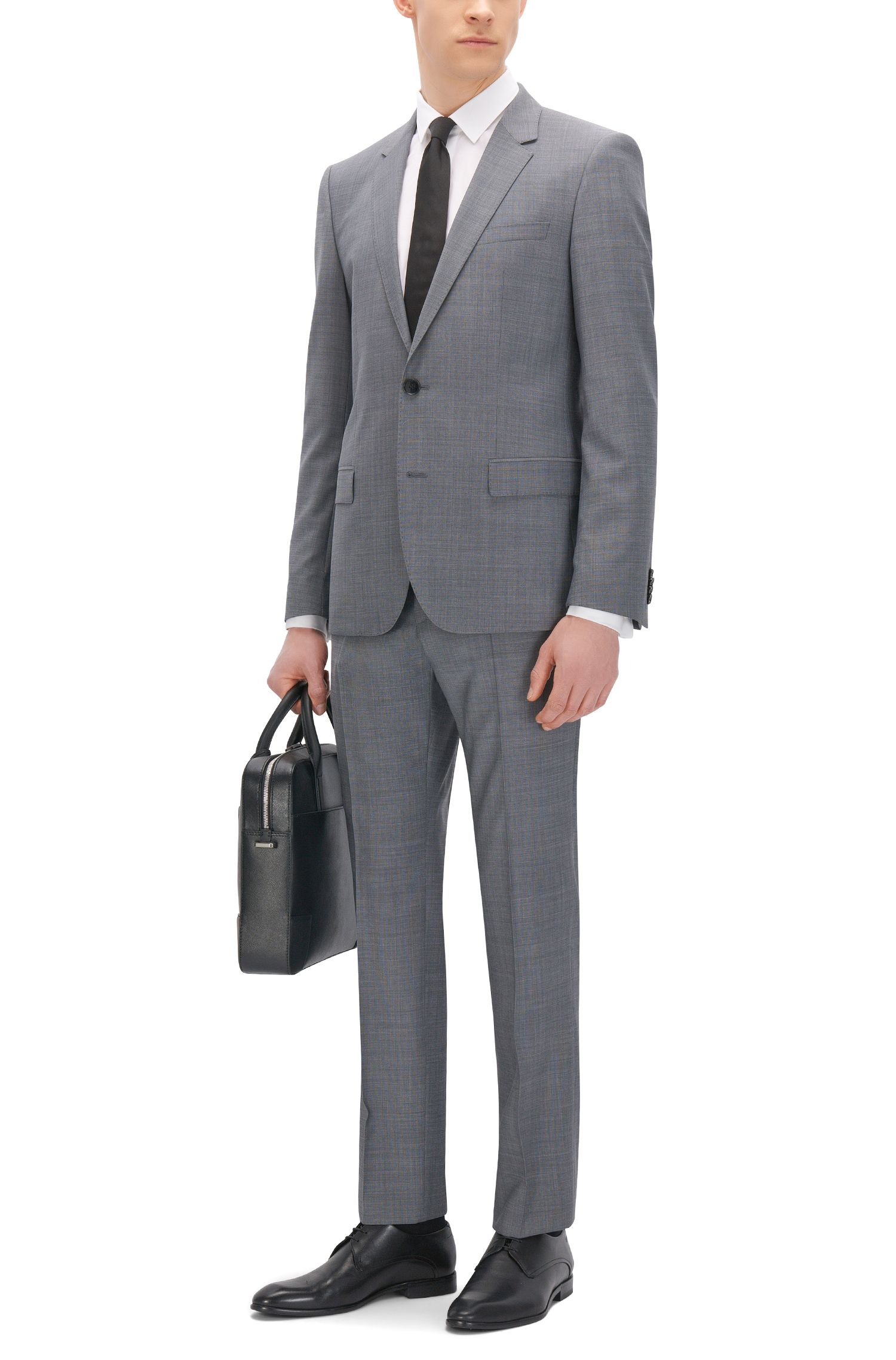Basketweave Wool Dress Pant, Slim Fit | C-Genius