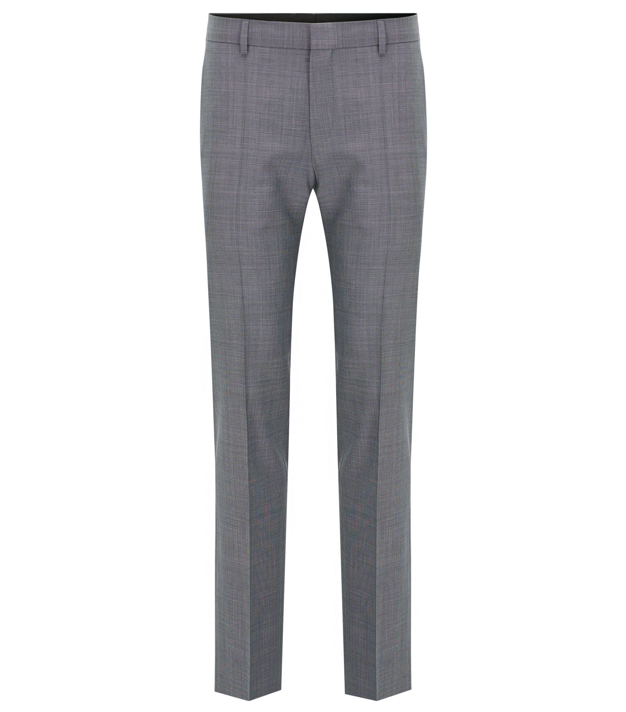 Basketweave Wool Dress Pant, Slim Fit | C-Genius, Open Grey