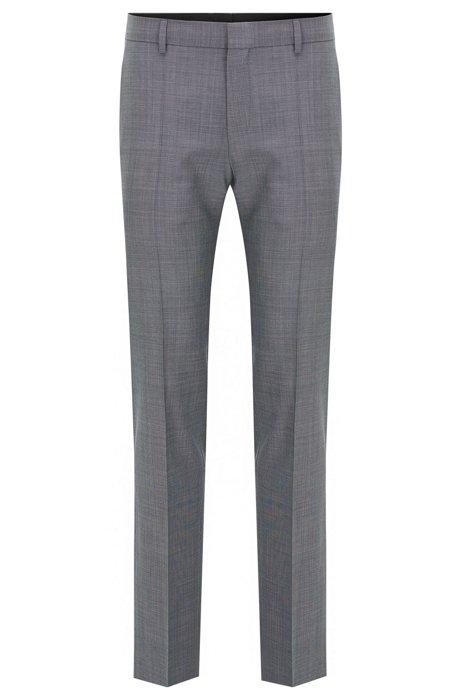 Extra-slim-fit trousers in basket-weave wool HUGO BOSS Popular Sale Online A4T6HYx