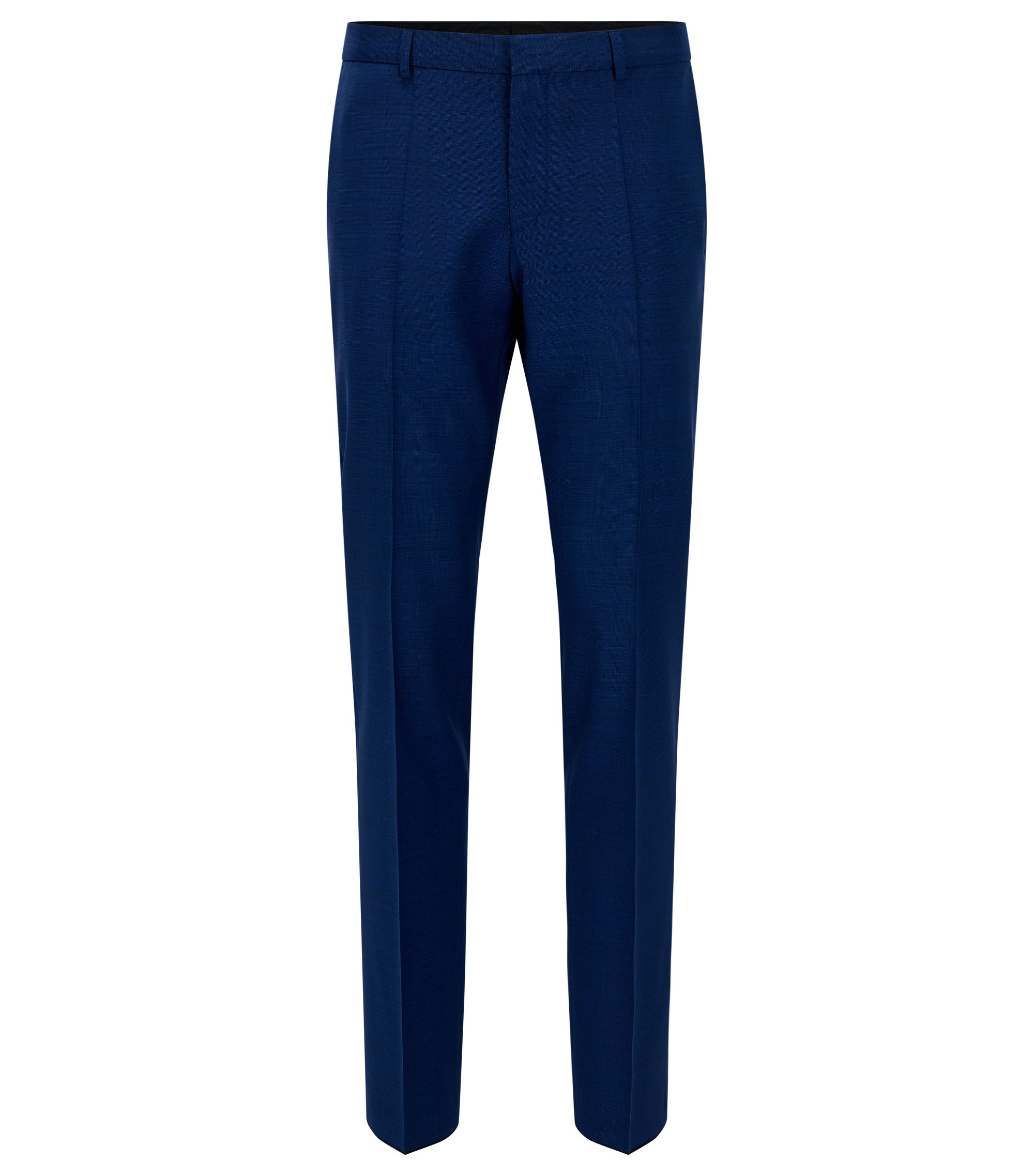 Basketweave Wool Dress Pant, Slim Fit | C-Genius, Blue