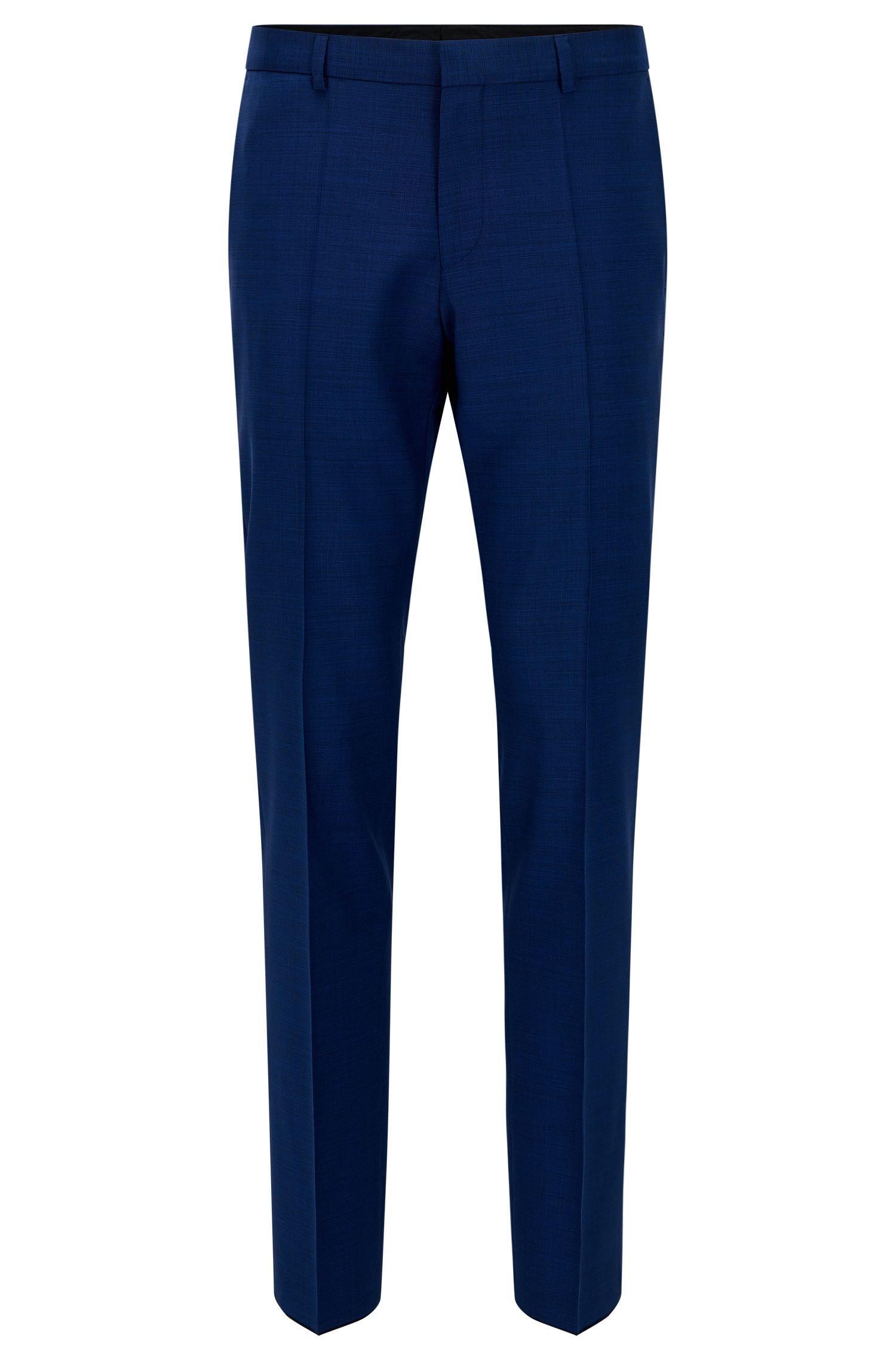Basketweave Wool Dress Pant, Slim Fit | C-Genius