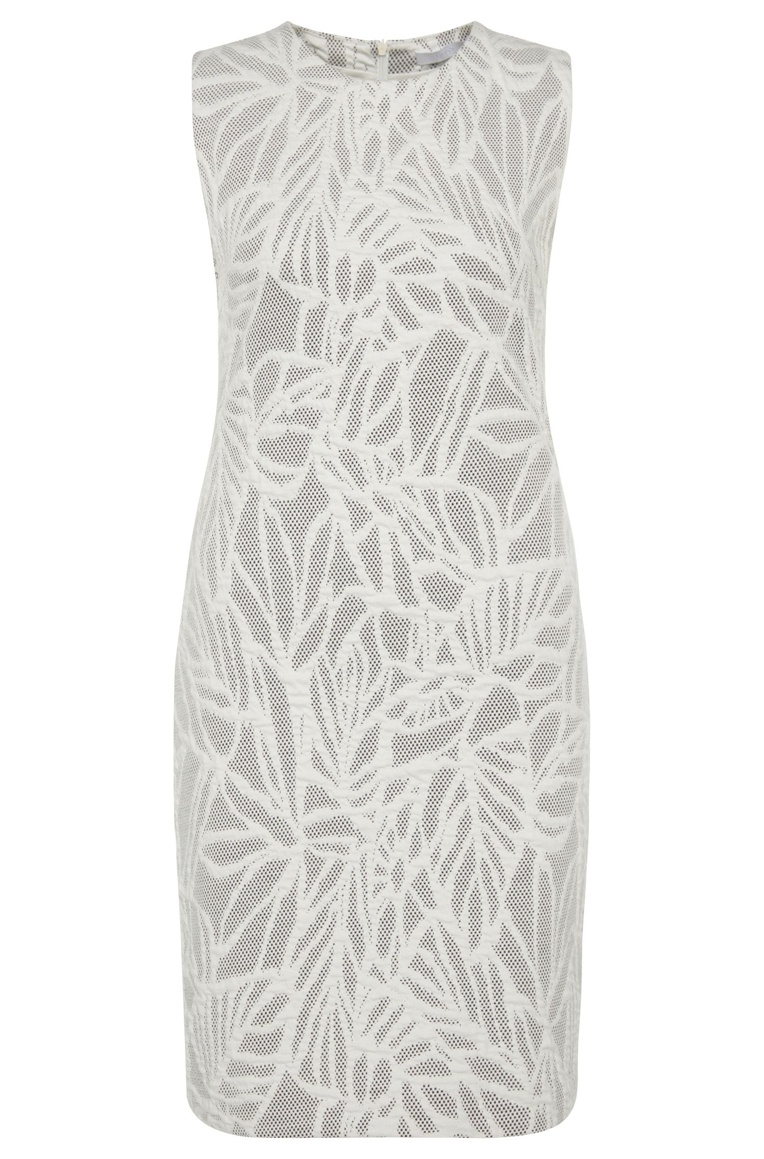 'Epalla' | Stretch Cotton Jacquard Shift Dress