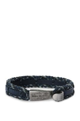 'Merlion' | Cotton Double-Cord Bracelet, Blue