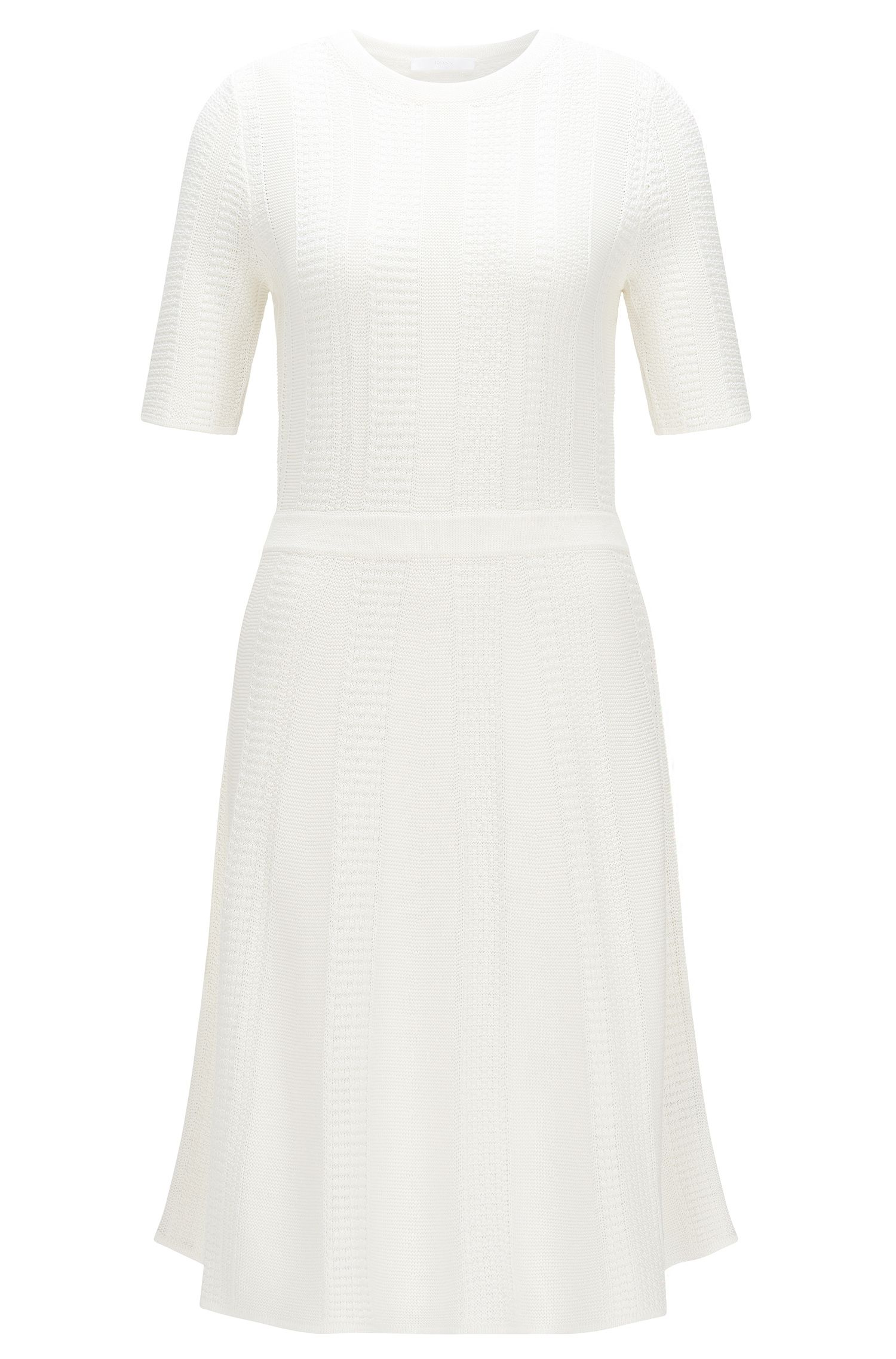 'Frizana' | A-Line Cotton Blend Sweater Dress