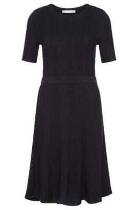 A-Line Cotton Blend Sweater Dress | Frizana, Open Blue