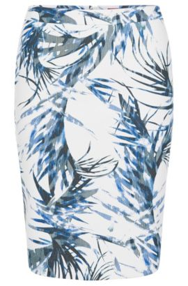 'Ranine' | Tropical-Print Pencil Skirt, Patterned