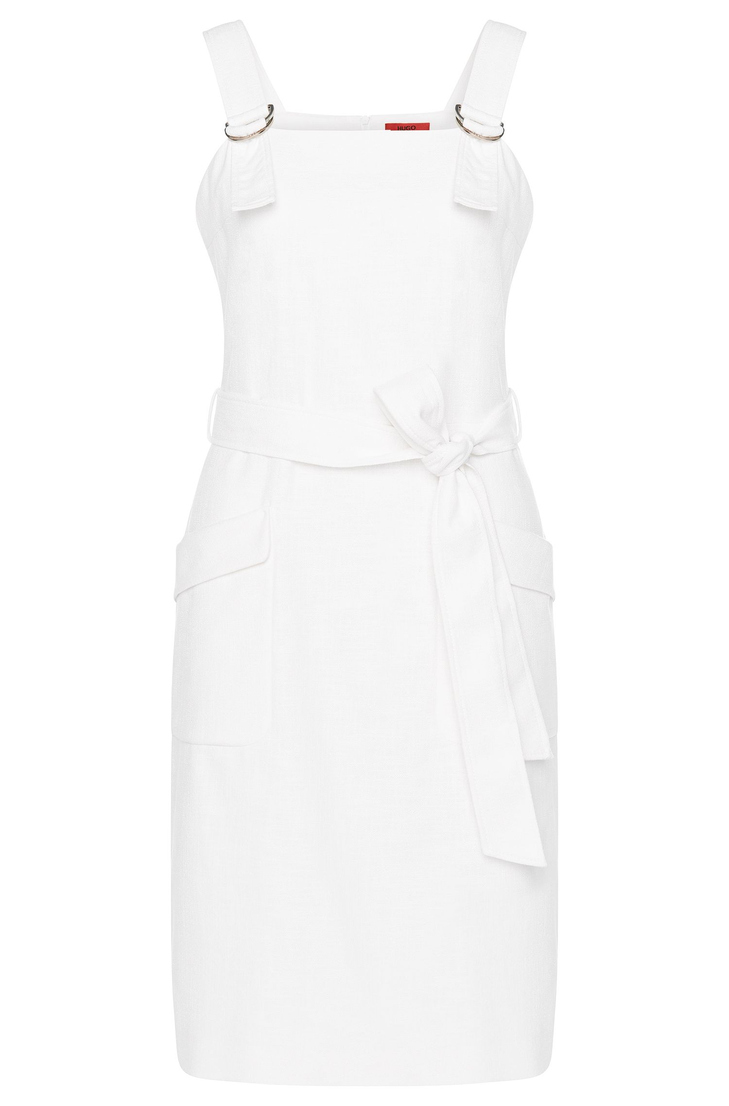 'Kenine' | Stretch Cotton Bend Belted Overall Dress