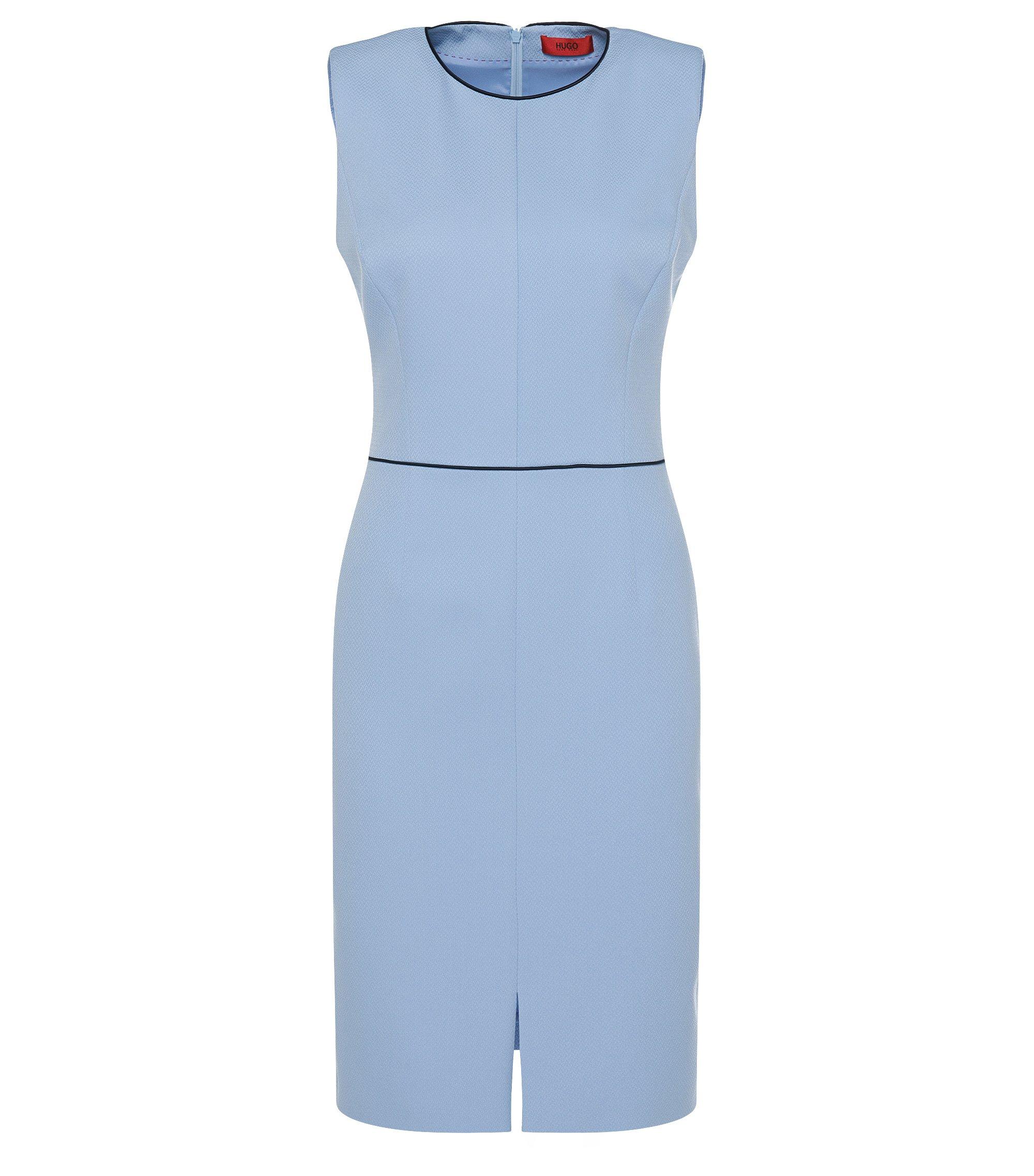 Textured Sheath Dress | Klenni, Light Blue