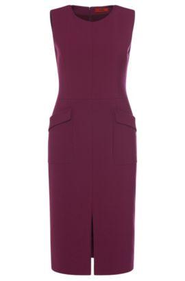 Stretch Cotton Blend Sheath Dress | Klenni, Purple