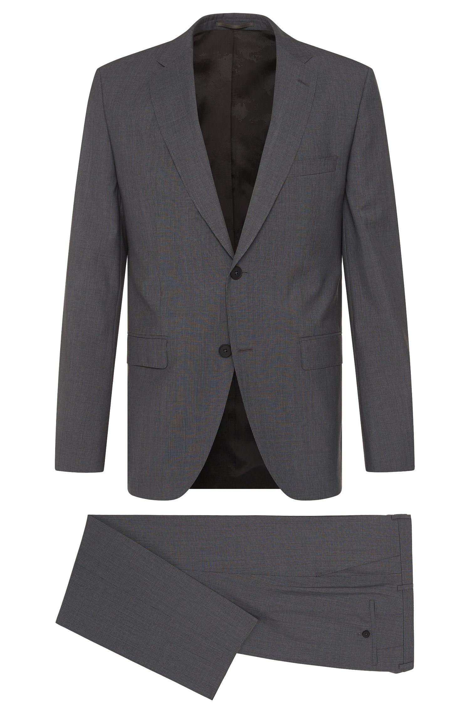 Italian Wool Traveler Suit, Regular Fit | Jets/Lenon