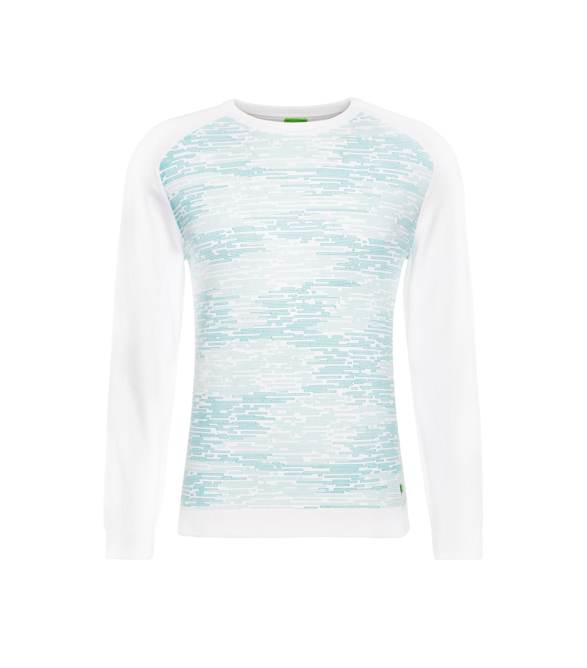 Stretch Cotton Blend Printed Sweatshirt | Rager, White