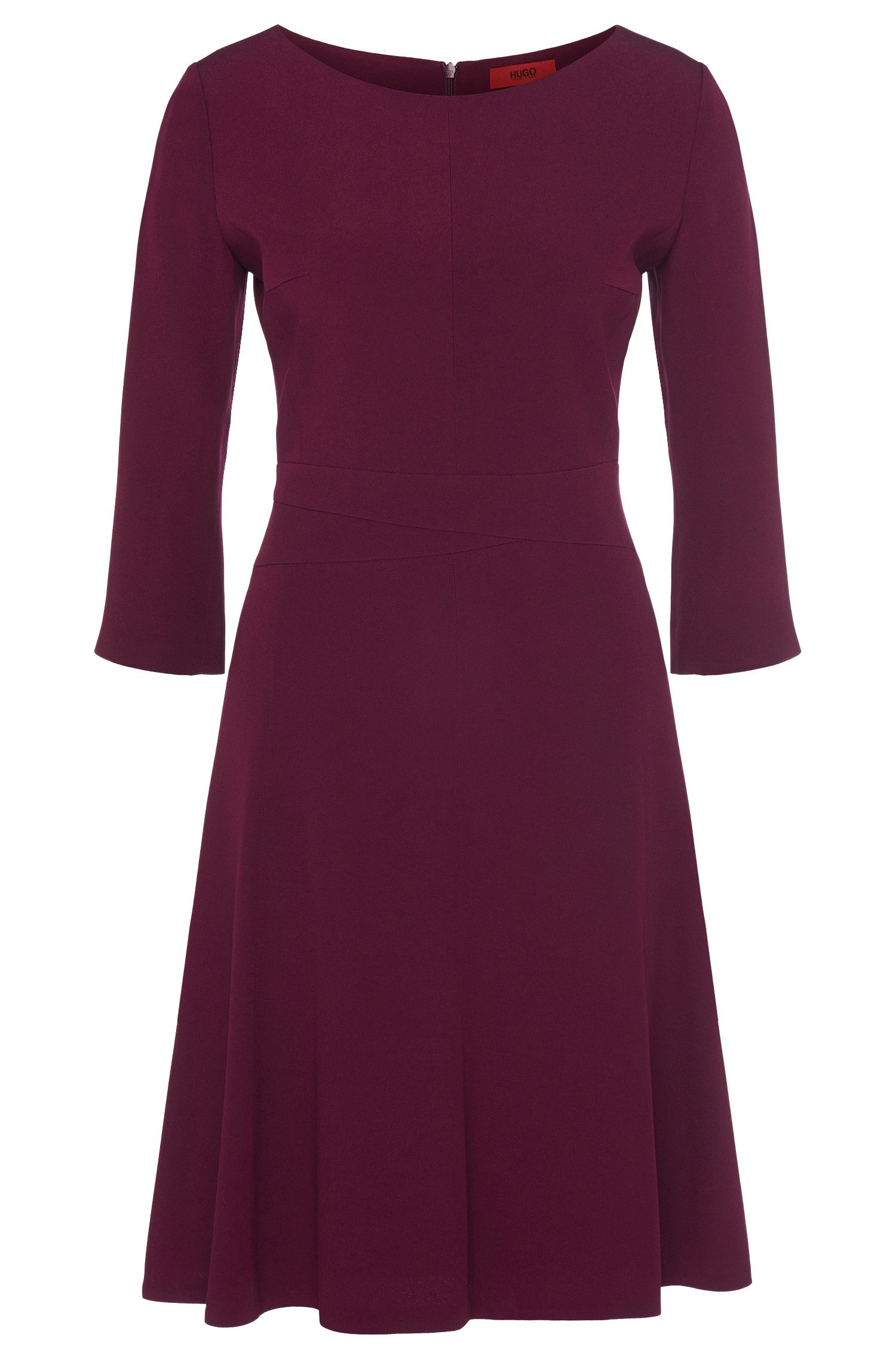 Crepe A-Line Dress | Kusima, Purple