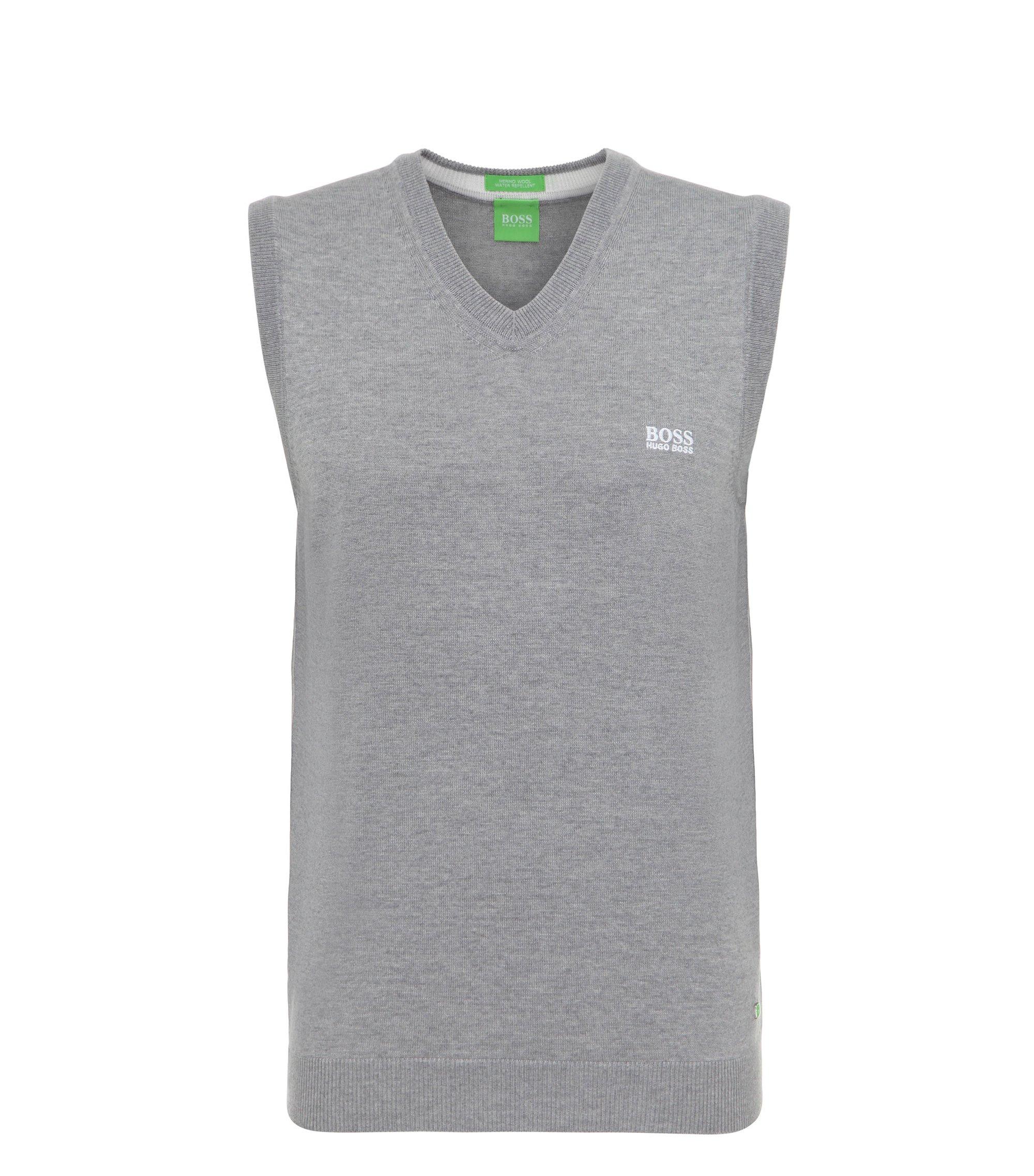 Virgin Wool Sweater Vest | Vily, Light Grey