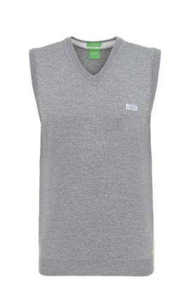 'Vily' | Virgin Wool Sweater Vest, Light Grey