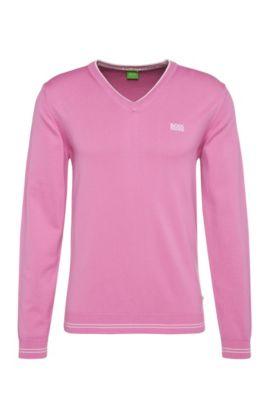 'Vime' | Cotton Blend Sweater , Open Purple
